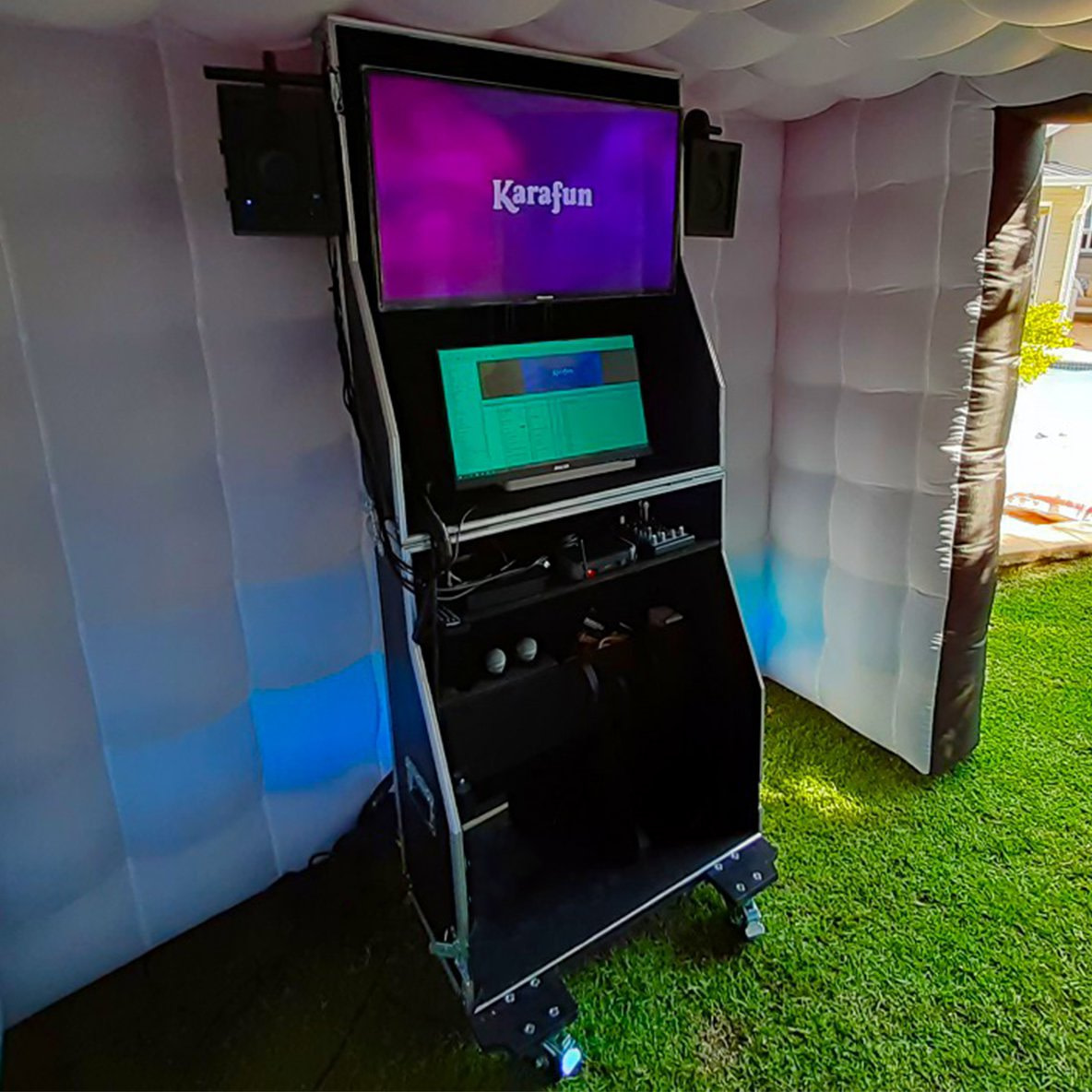 Karaoke Hire Booth TV.